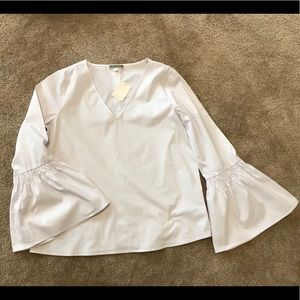 NWT Pleione Nordstrom White Bell Sleeve Blouse